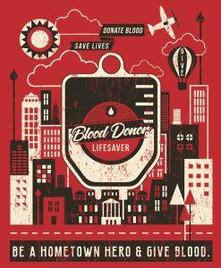 Hometown hero Blood Donor City Art