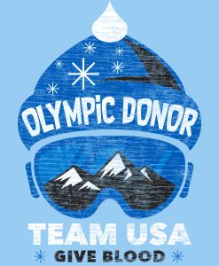 Olympic Donor TeamUSA Give Blood Art