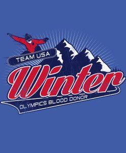 Winter Olympics Blood Donor Snowboard Art
