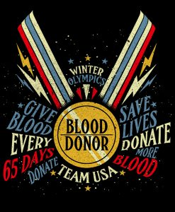 Winter Olympics Blood donor medal Art